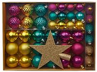 Набор новогодних игрушек на елку БОЛЬШОЙ, 43 ед (3 цвета), производство Германия, последний