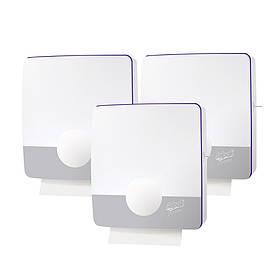 Тримач для паперових рушників Z-складання білий пластиковий Selpak Professional Touch