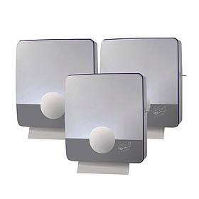 Тримач для паперових рушників Z-складання сірий пластиковий Selpak Professional Touch