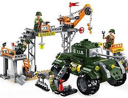"""Конструктор Brick Enlighten 1712 """"Военая база"""", 198 деталей"""