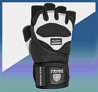Перчатки спортивные для занятий в зале, на турнике, фитнесом, бодидилдингом, перчатки атлетические S Black/White