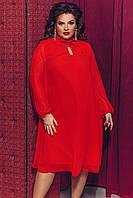 Женское красивое платье из шифона с длинным рукавом с 42 по 58 рр