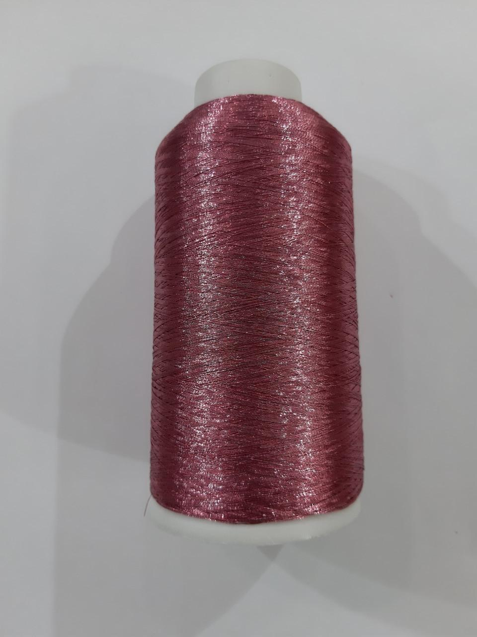 Нить вышивальная металлизированная 150D/1 3064 розовый (боб 5000ярд/12боб/120боб)