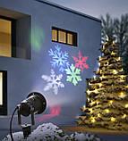 Лазерный проектор Снежинки Led Strahler Schneeflocke с эффектом цветомузыки, фото 2