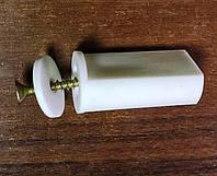 Стопор для защитных роллет Alutech в комплекте с винтом, цвет белый