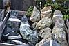 """Мелкий Бут из твердой вулканической породы """"Green Moss Stone"""" KLVIV"""