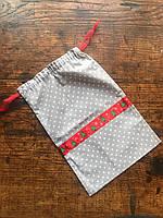 20х30смПраздничные мешочки для подарков, новогодняя упаковка, хлопковый мешочек декоративный, подарочный 20х30