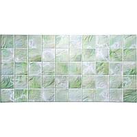 Панели ПВХ Grace Плитка Перламутровая зеленая 964*484 мм
