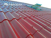 """Покрівля """"FIBRODAH"""" 1000 х 1130 мм (шифер Бордо), фото 1"""