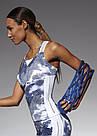 Спортивный топ Bas Bleu Code -Top 50 белый с серым принтом Польша, фото 4