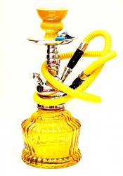 Кальян зі скляною широкої колбою жовтий