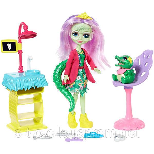 Enchantimals GFN55 Кукла со зверюшкой и тематическим набором. Стоматология GFN55. Mattel