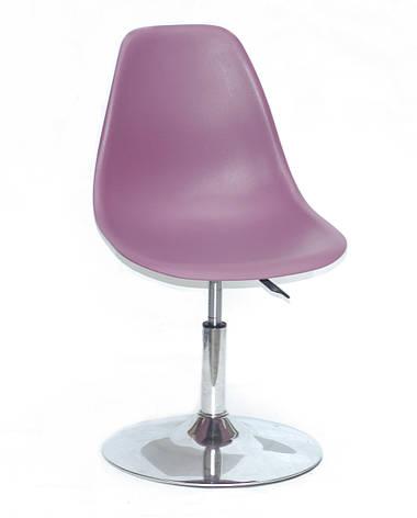 Стул поворотный на одной ножке регулируемый   Nik  CH-Base Onder Mebli, цвет пурпурный 62, фото 2