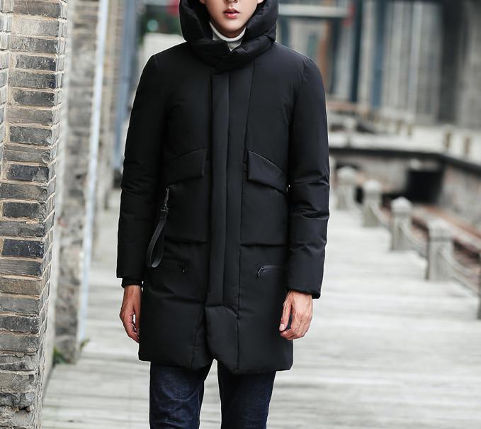 Куртка зимняя мужская, черный пуховик  размер 46 (XL) СС-7870-10