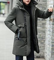 Куртка зимняя мужская, зеленый пуховик, СС-7870-40