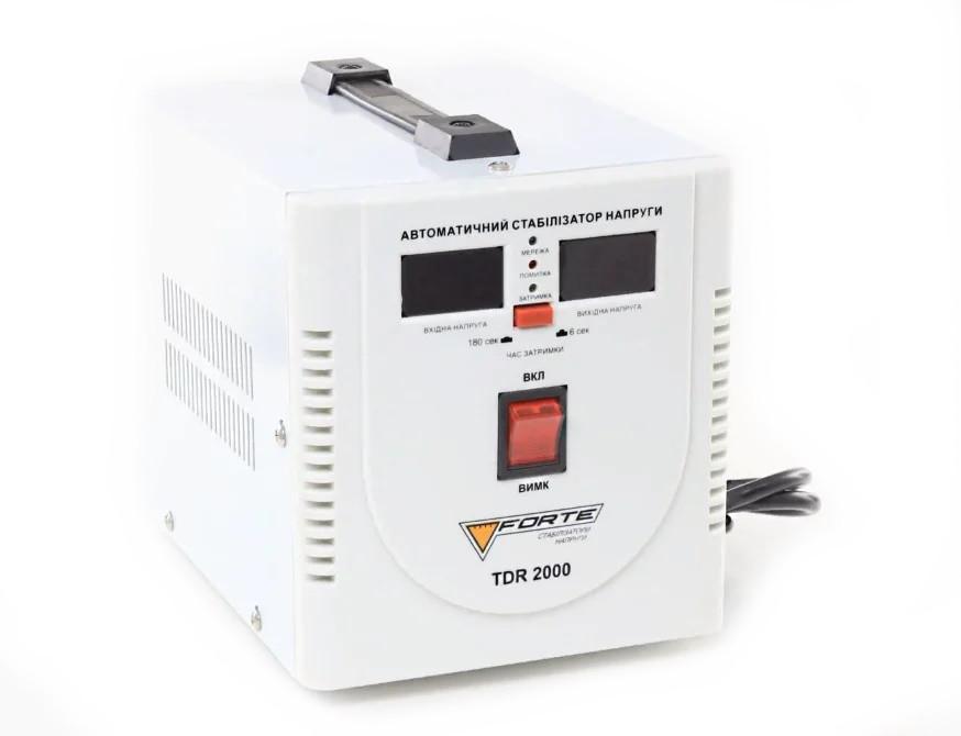 Стабилизатор напряжения Forte TDR 2,0 кВт. Напольный. Цифровой вольтметр