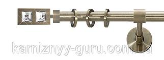 Карниз для штор ø 25 мм, одинарный, наконечник Симпле Дуо