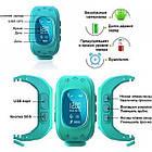 Детские умные смарт часы Smart watch Q50 со съемным силиконовым ремешком  в разных цветах ОПТ, фото 4