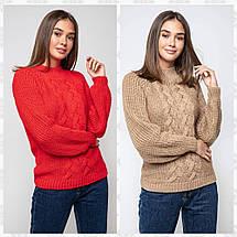 Женский вязаный свитер с люрексом /разные цвета, 42-48, PR-3710/, фото 3
