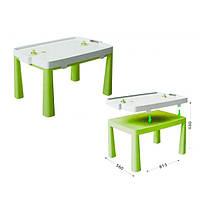 Пластиковый стол с насадкой для аэрохоккея салатовый Doloni  04580/2