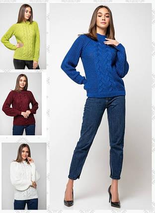 Женский вязаный свитер с люрексом /разные цвета, 42-48, PR-3710/, фото 2