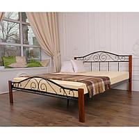 """Металеве двоспальне ліжко """"Еліс Люкс Вуд"""" (8 кольорів)"""