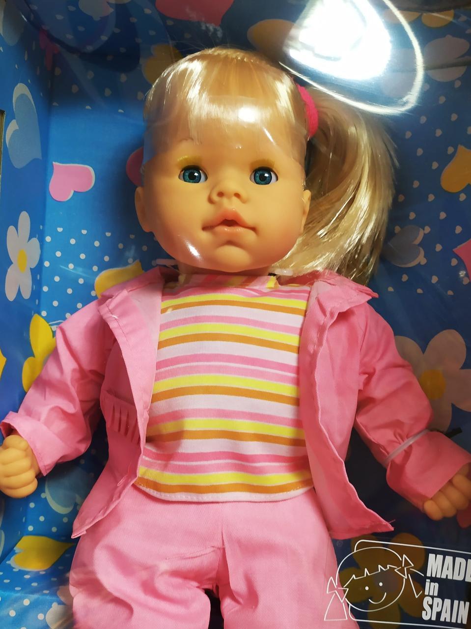 Кукла EMMA, разговаривает на русском языке, мягкотелая, ручки, ножки и голова из винила