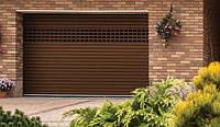 Ролетні ворота автоматичні  Alutech Trend AG/77 гаражний профіль 4000х2200   з накладним  монтажем