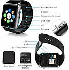 ОПТ Розумні годинник Smart Watch A1 смарт-годинник A1 з квадратним циферблатом, камерою, шагометром і функцією дзвінків, фото 2