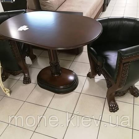 Кожаный комплект кресла и стол Тет-а-Тет, фото 2