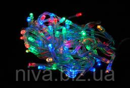 Гірлянда Бахрома LED + перехідник 5 х 0,5 м Різнокольоровий