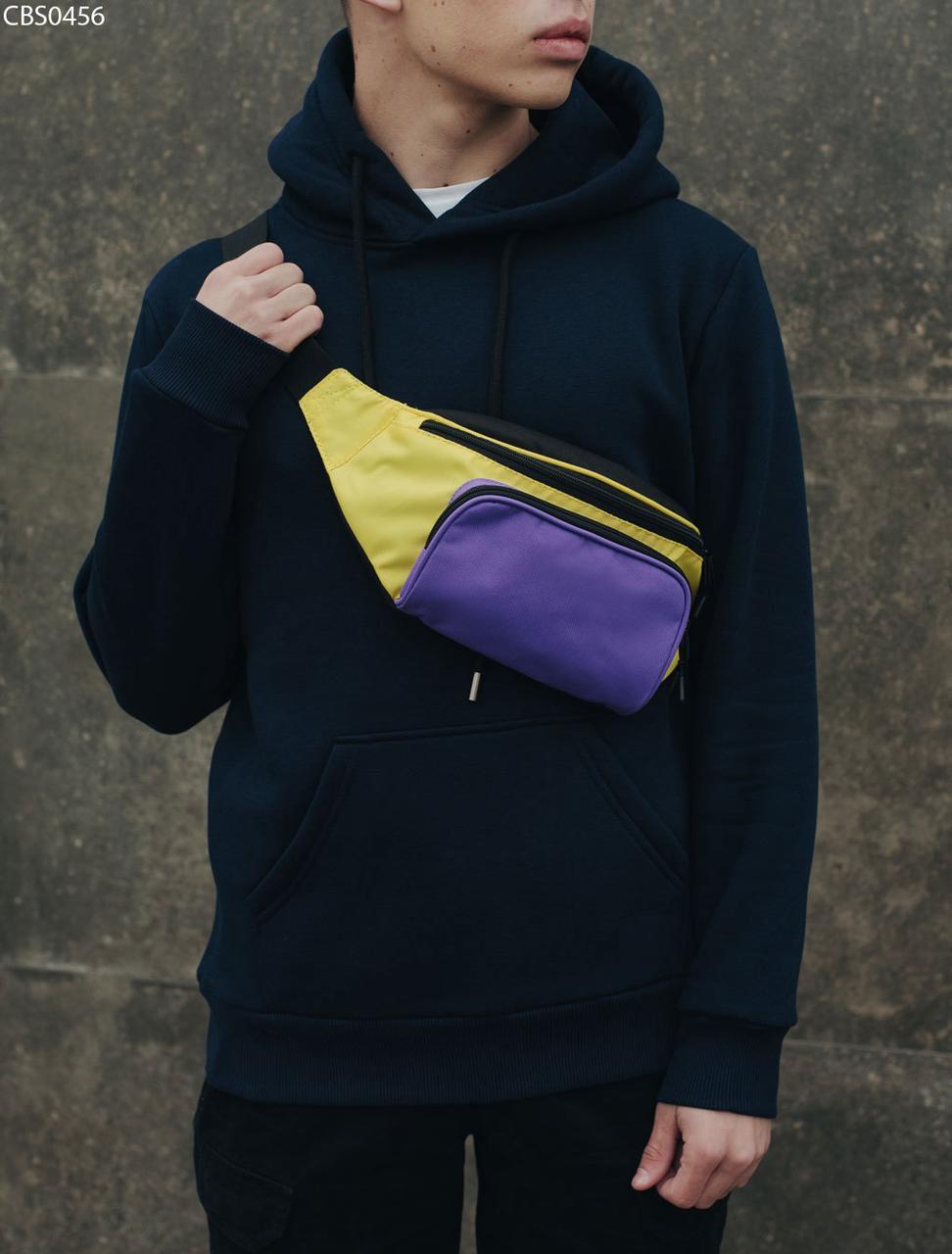 Поясная сумка Staff black purple yellow