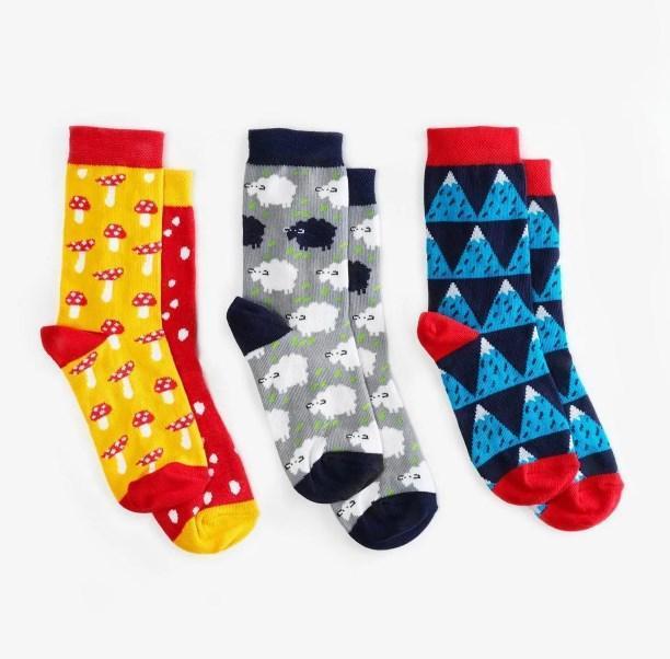 Шкарпетки дитячі Dodo Socks Yukon 2-3 роки, набір 3 пари