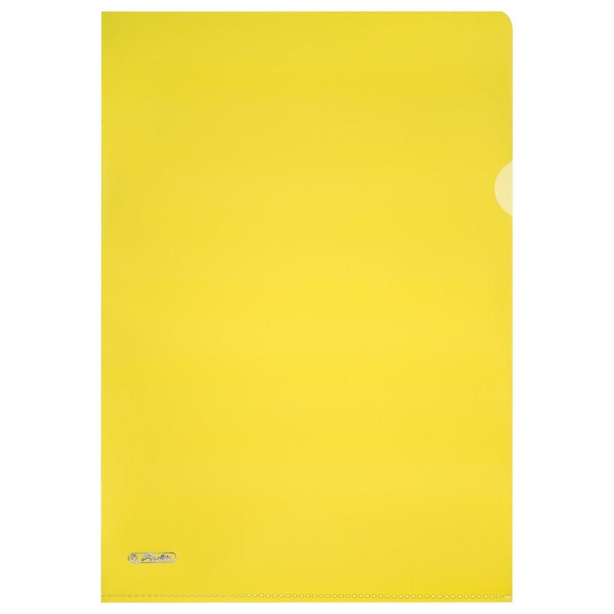 Папки-куточки Herlitz Premium Pyramide А4 10шт 190мкм тиснені жовті