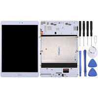 Дисплей для Asus ZenPad 3S 10 Z500M с тачскрином и рамкой белый, Оригинал