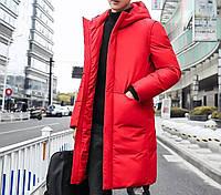 Зимняя куртка-пальто удлиненная, спортивная непромокаемая, утеплитель силикон не сбивается при стирке, фото 1