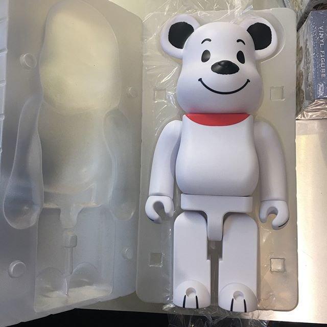 Фигурка Беарбрик Белый медведь-  Bearbrick 400 %