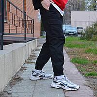Брюки мужские карго черные демисезонные / штаны весенние, осенние