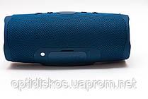 Bluetooth портативная колонка Charge 4 NEW, темно синяя, тканевая, фото 2
