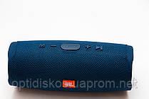 Bluetooth портативная колонка Charge 4 NEW, темно синяя, тканевая, фото 3