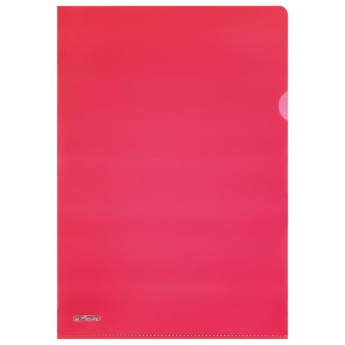 Папки-куточки Herlitz Premium Pyramide А4 10шт 190мкм тиснені червоні