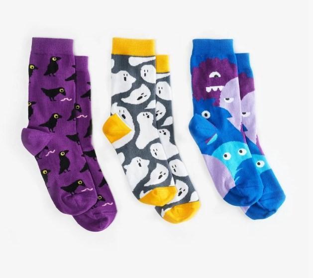 Шкарпетки дитячі Dodo Socks Babaiko 7-10 років, набір 3 пари