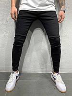 Мужские джинсы черные узкие турецкие А -4933