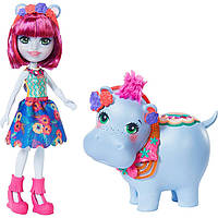 Набор Enchantimals с большими зверюшками Гедда Гиппо и Лейк GFN56.Mattel, фото 1