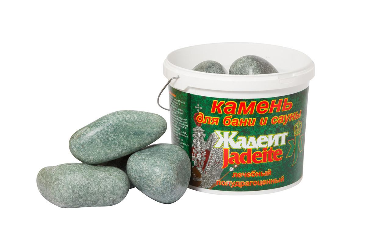 Камни для бани Хакасинтерсервис жадеит шлифованный средний 5 кг