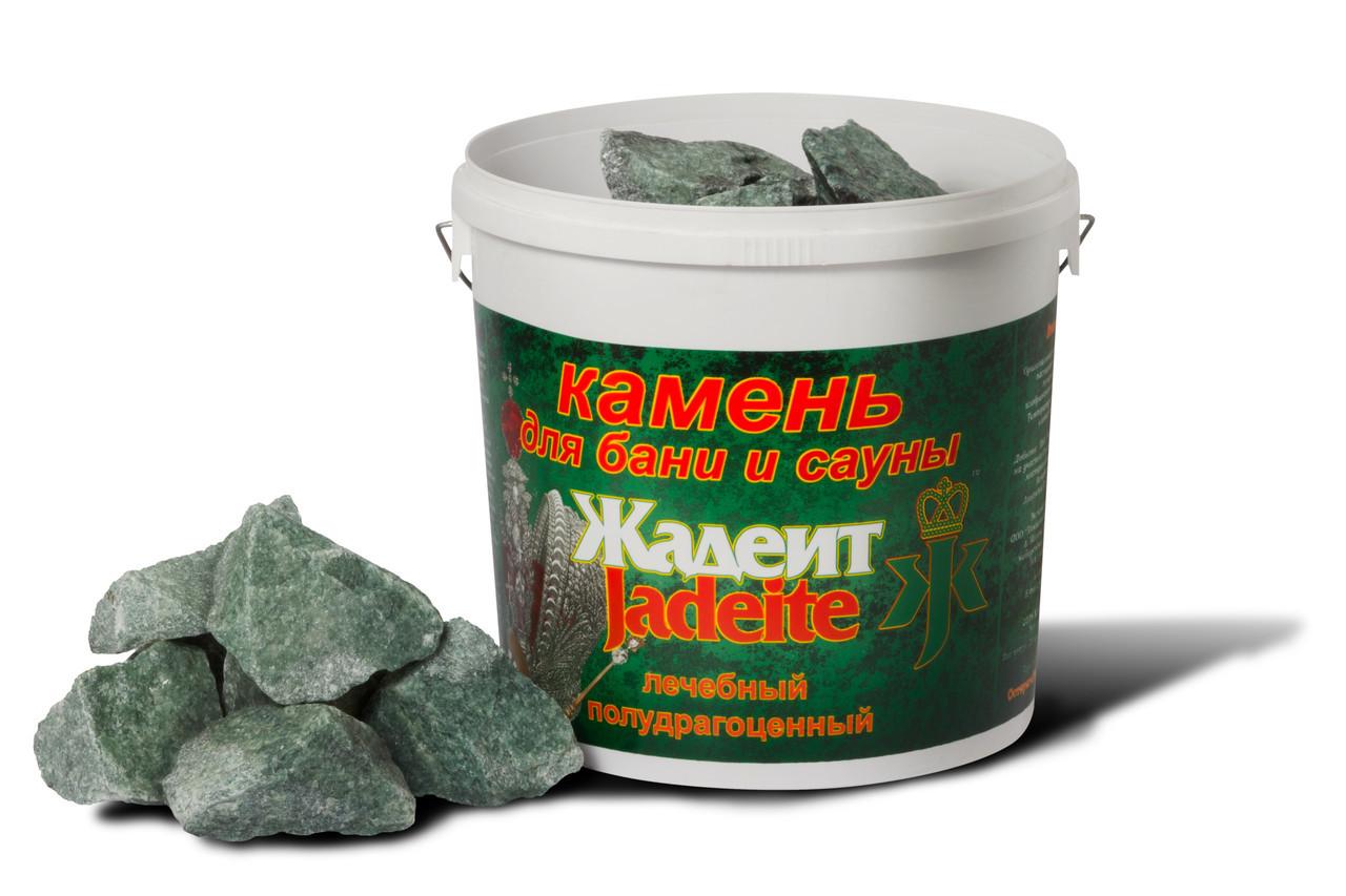Камни для бани Хакасинтерсервис жадеит колотый крупный 20 кг