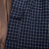 Чоловічі шорти в клітинку великого розміру (Льон), фото 3