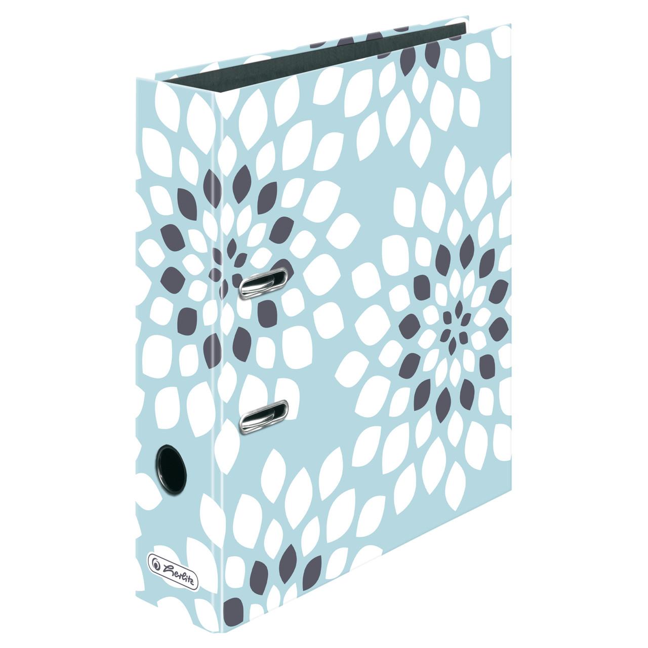 Папка-реєстратор Herlitz А4 8см Modern Living Flora Квіти блакитна
