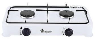 Настольный газовый таганок плита Domotec MS 6662 на 2 конфорки White (6845)