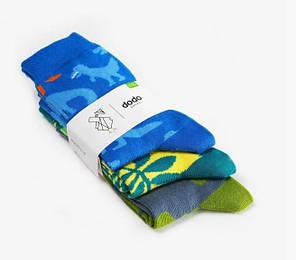 Носки детские Dodo Socks Dino 7-10 лет, набор 3 пары, фото 2